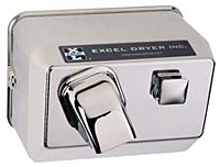 76 c excel hand dryer surface mount push button chrome - Excel Hand Dryer